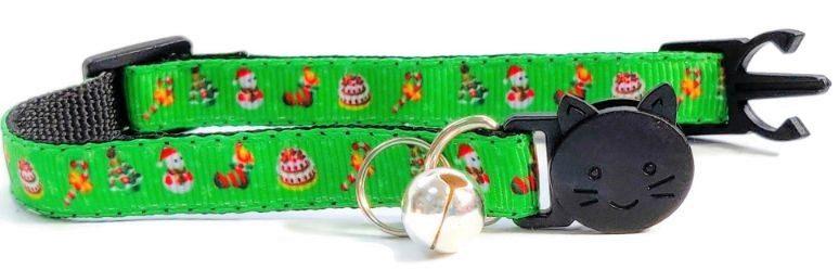 Christmas Collar – Green with Christmas Symbols