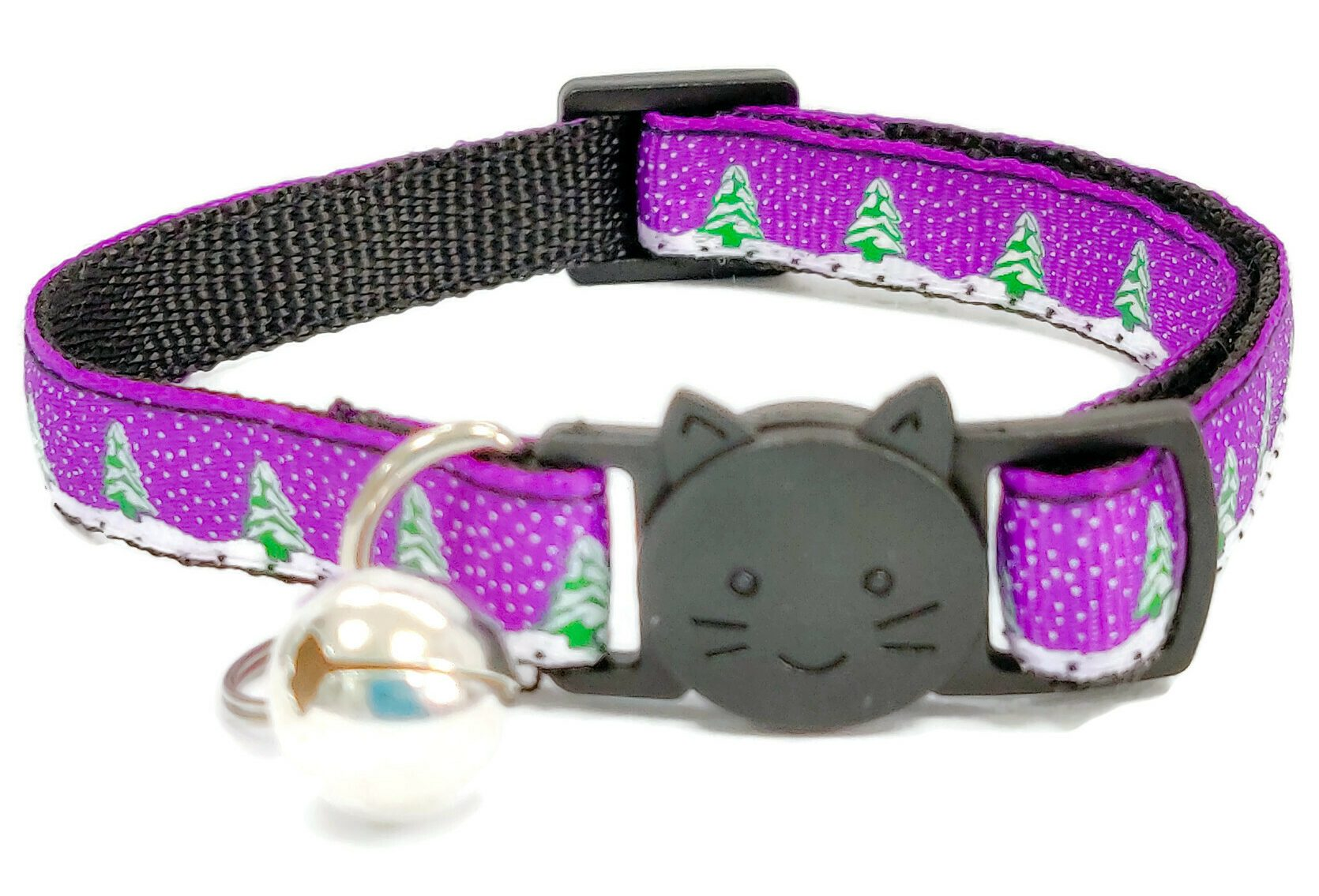 Christmas Collar – Purple with Sno...