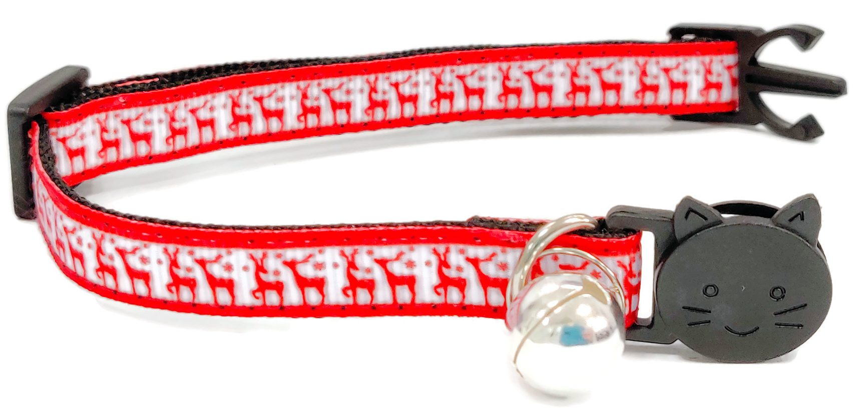 Christmas Collar – Red with Red Reindeers