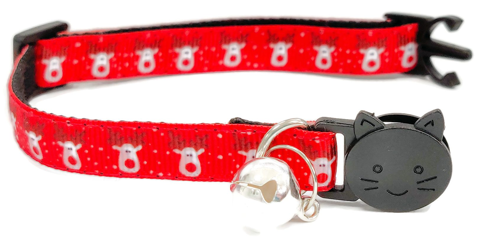 Christmas Collar – Red with Reindeers