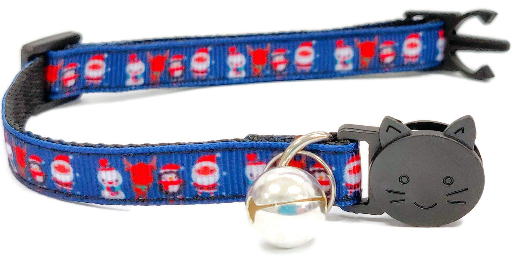 Christmas Collar – Blue with Chris...