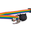 Rainbow Long Stripe Kitten Collar