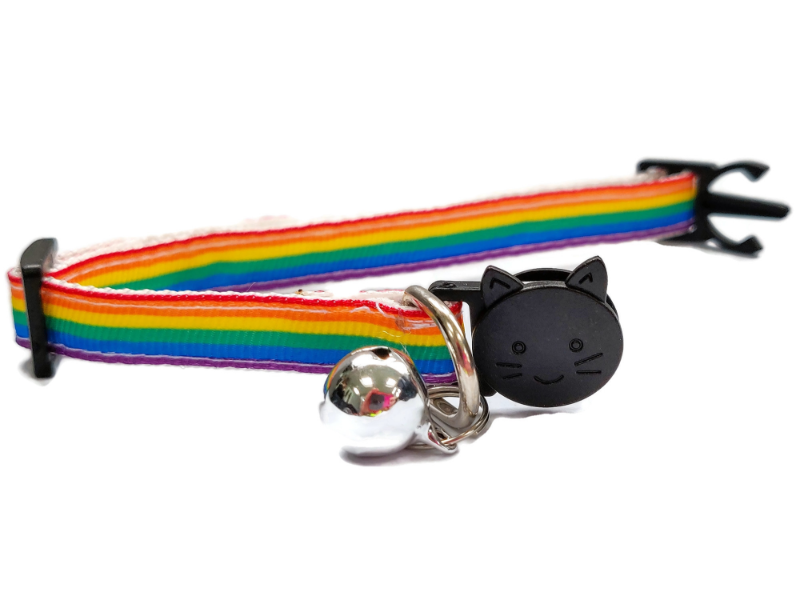 Rainbow Long Stripe Cat Collar