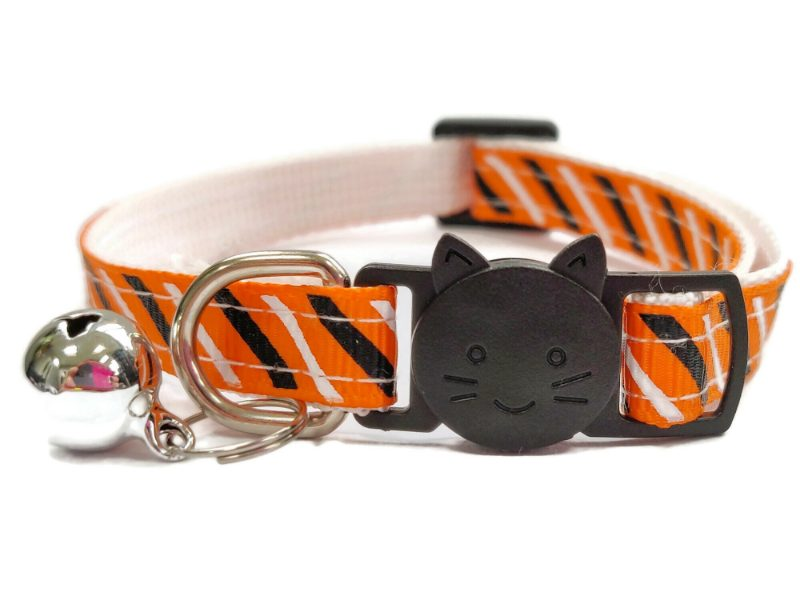 Orange with Black & White Stripe Ca...