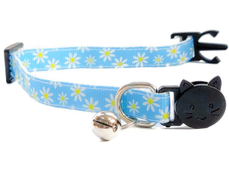 Light Blue with Daisy Flowers Kitten Collar