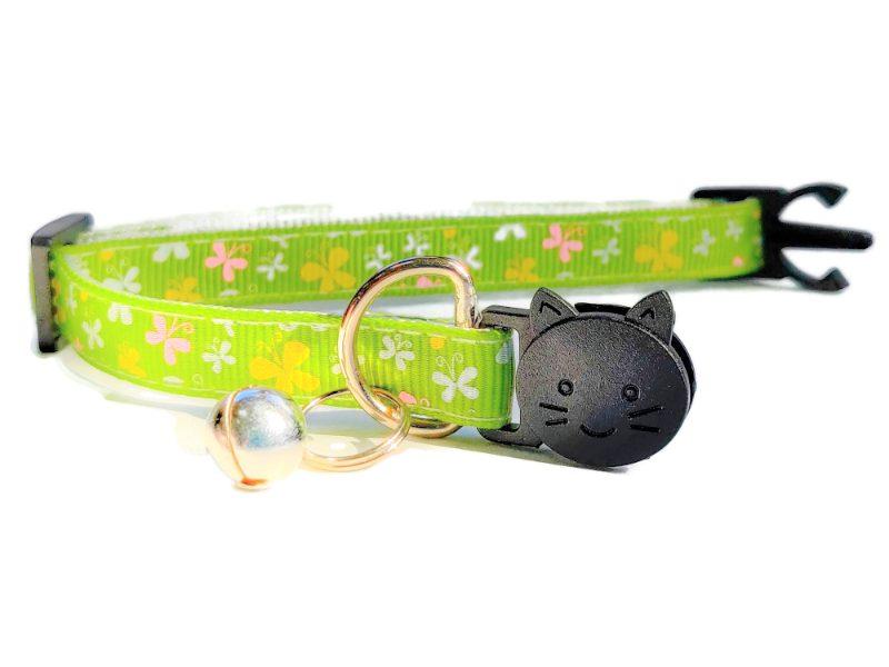 Light Green with Butterflies Kitten Collar