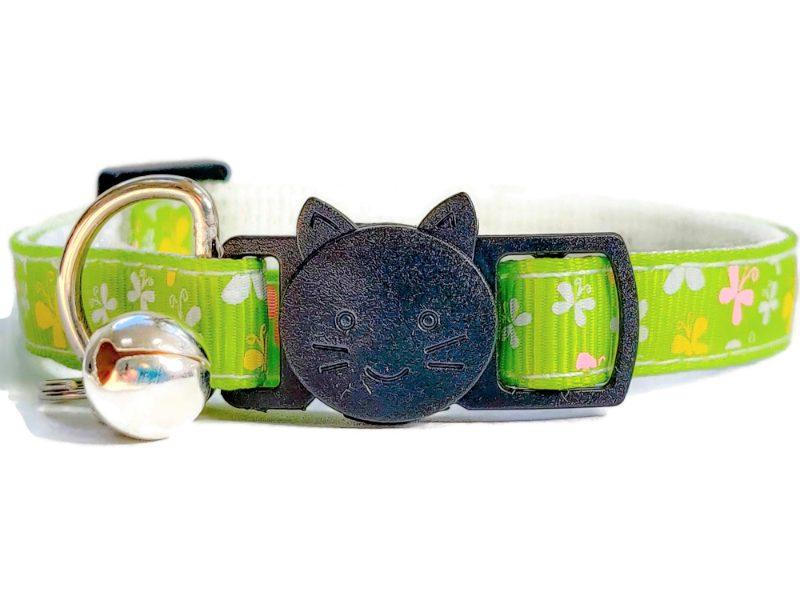 Light Green with Butterflies Cat Collar