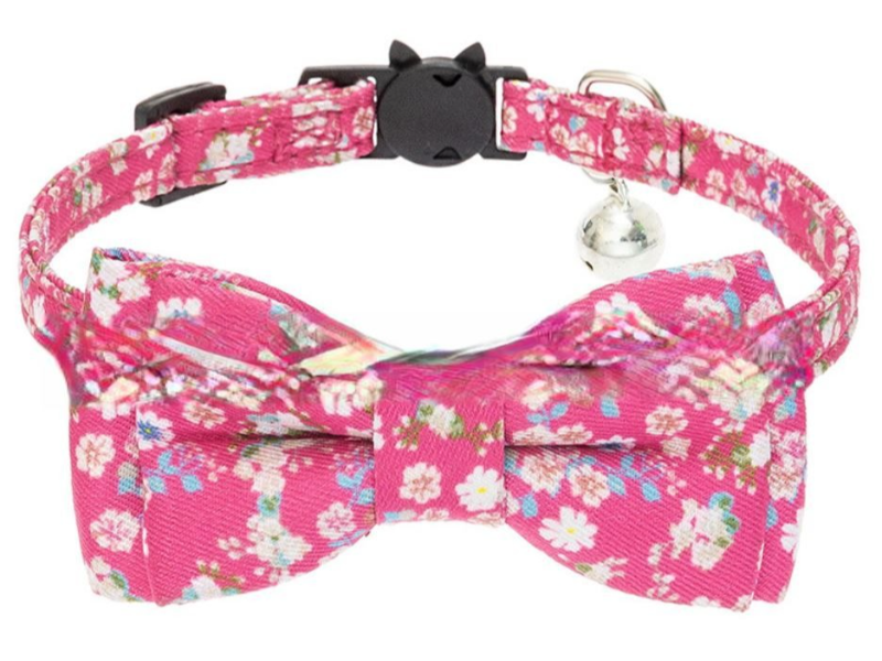 Luxury Cat Collar – Pink with Flow...