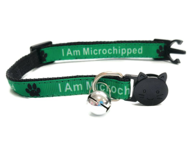 'I Am Microchipped' Cat Collar (G...