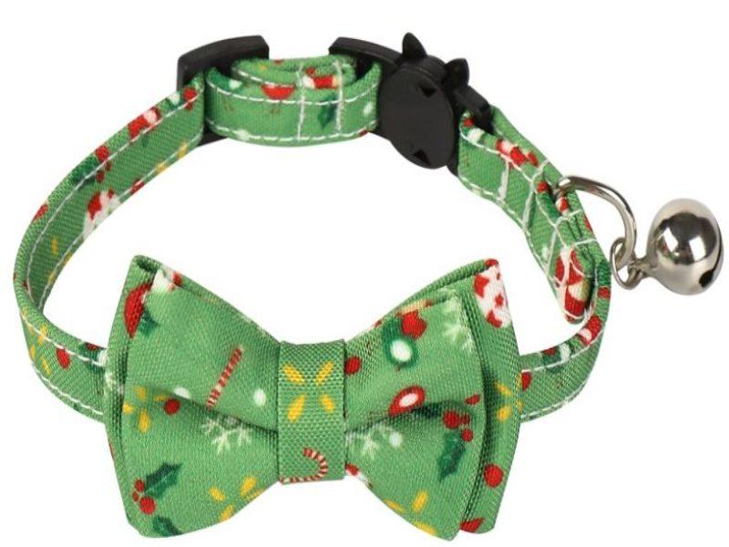 Christmas Cat Collar – Light Green...