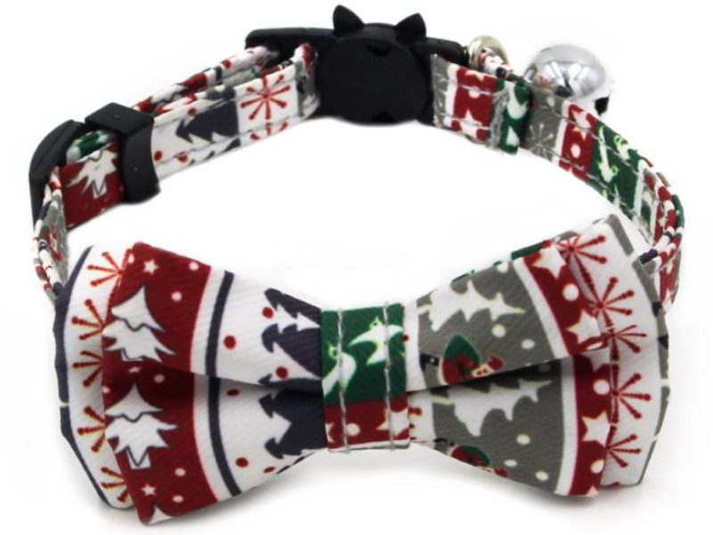 Christmas Cat Collar – White & Red...